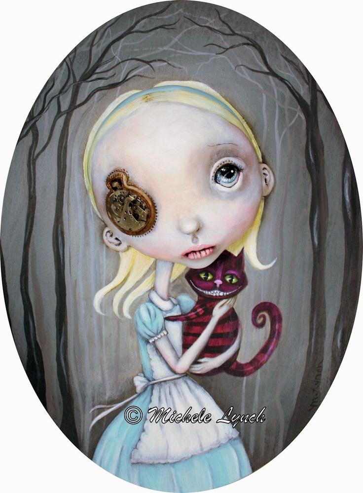 Pop Surrealism Alice In Wonderland Art Print 3/50.