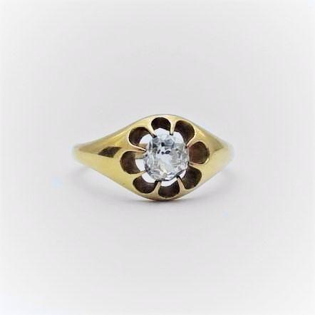 Gentlemans Edwardian Diamond Ring.