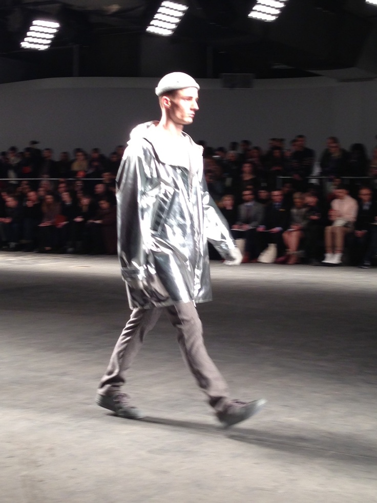 Amazing metallic parka by Richard Nicoll, one of London's finest #LondonCollections