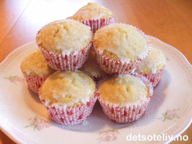 Mandel- og sitronmuffins