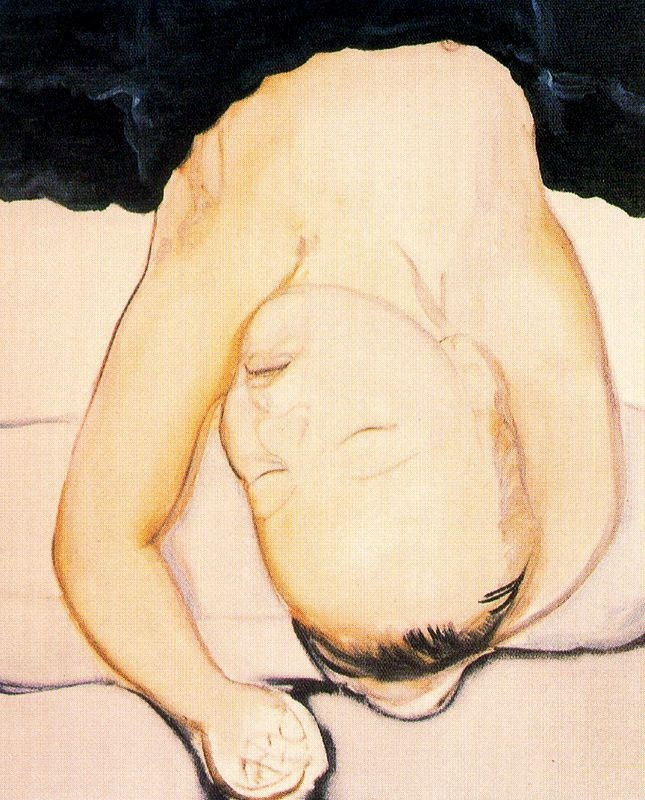 'Cupid' - 1994 - by Marlene Dumas (South African, b. 1953) - Oil on canvas - 160x140cm. - Private Collection - @~ Mlle
