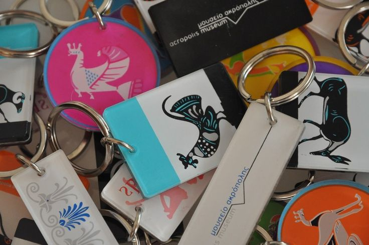our art plexiglass keychains only at the Acropolis museum shop.