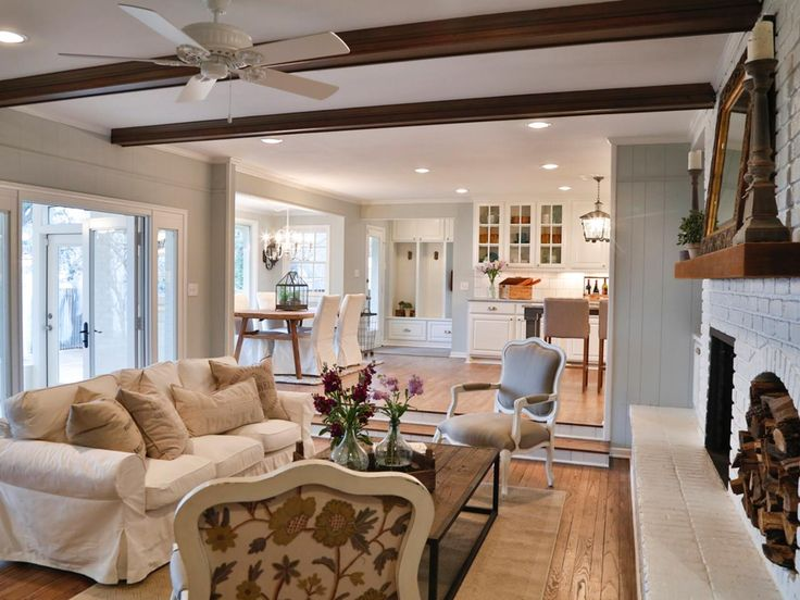 Ceiling Beams An Extension Of The Kitchen Creating French Country In Texas Suburbs On Hgtv