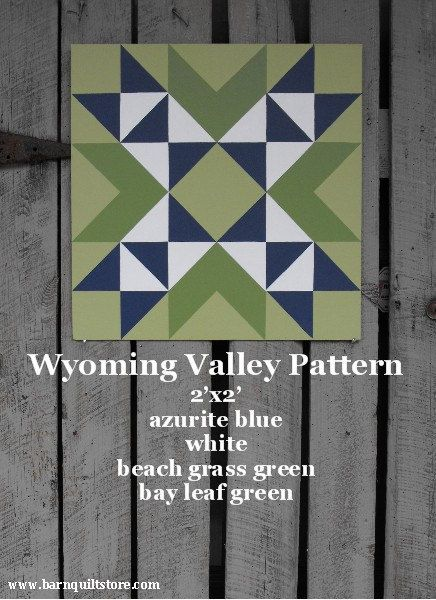Painted Wood Barn Quilt Wyoming Valley by TheBarnQuiltStore, $70.00