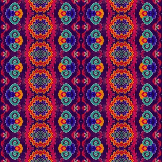 Pattern. Arabescos y orquídeas colombianas