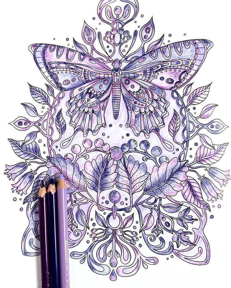 ムラサキ。 #おとなのぬりえ #ぬりえ  #coloringbook  #coloringforadults  #色鉛筆 #hannakarlzon #紫 #purple