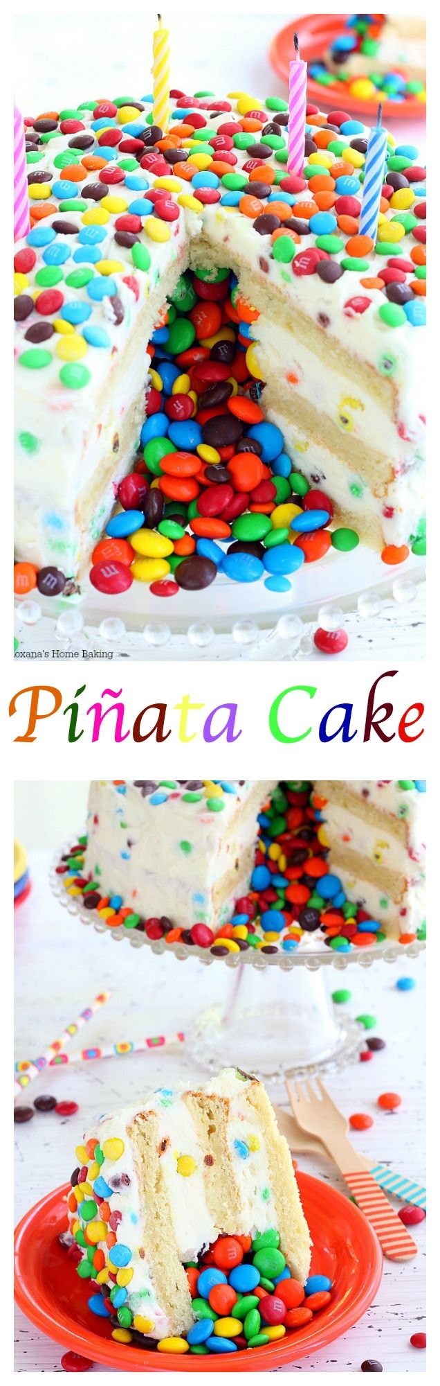 Have a birthday party coming up? Surprise your guests when you cut into the birthday cake and colorful candy spills out just like a piñata. It's Piñata cake time!