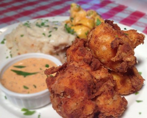 Southern Fried Cauliflower & Delta Dipping Sauce with Buffalo Mac n Cheese