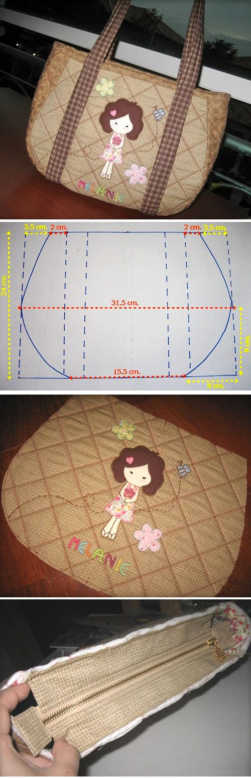 How to sew a bag quilting. Step by step photo tutorial and template. http://www.handmadiya.com/2015/11/quilted-tote-bag-tutorial.html