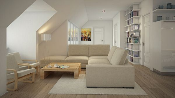 Mansarda apartments by Curly studio , via Behance