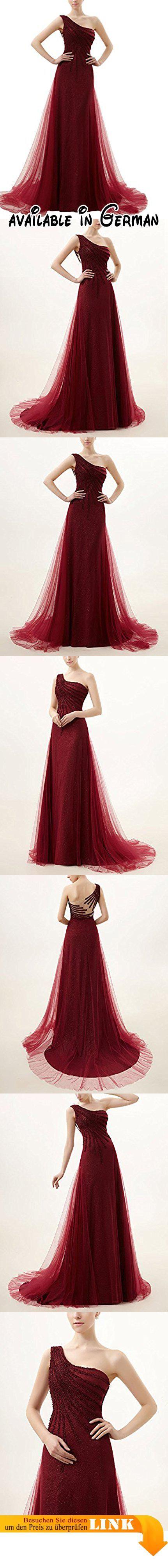 Lactraum LF4187 One-Shoulder mit schleppe weinrot Abendkleid (36).  #Apparel #DRESS