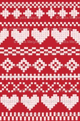 fairisle pattern. Another possible reversible knitting pattern