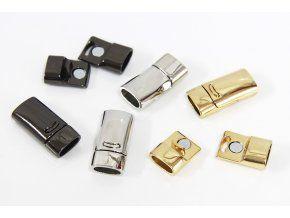 luxusní magnetické zapínání (13x26mm, 1ks, gun metal)