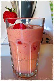 Rezepte mit Herz ♥: Erdbeer-Mango-Smoothie