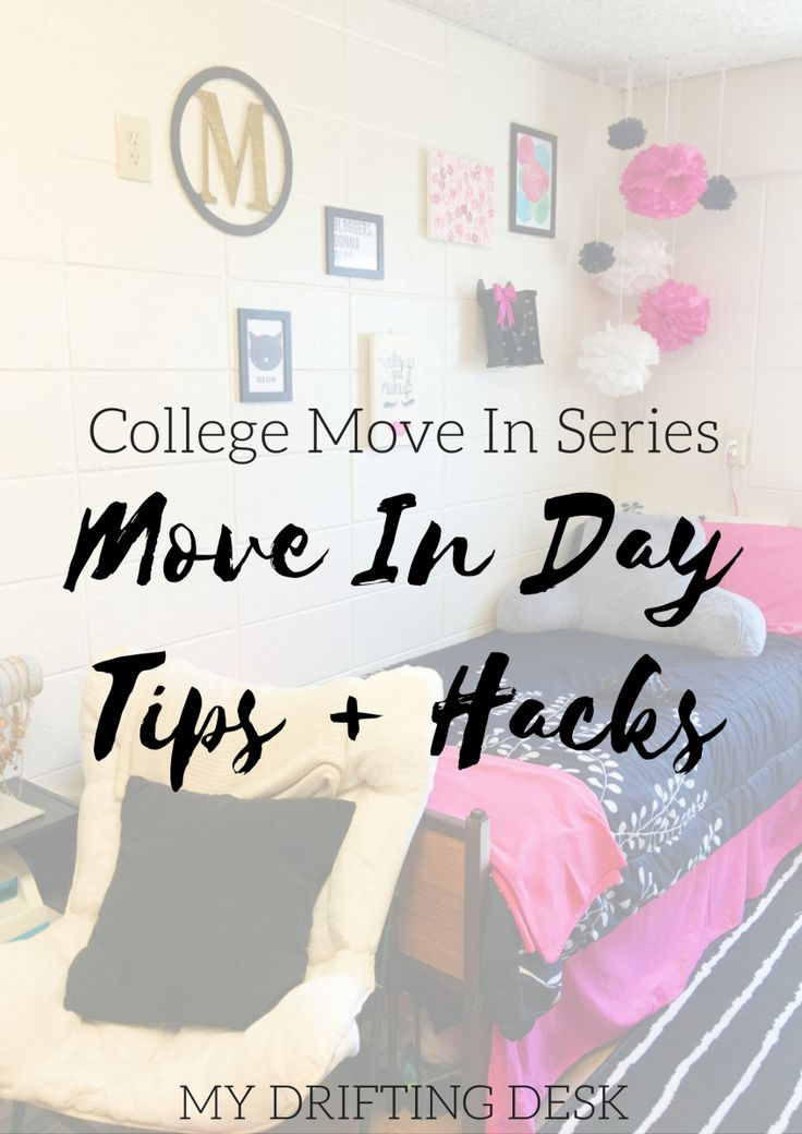 Move In Day Tips & Hacks – My Drifting Desk | Conquer College. Here are some tips + tricks to conquer your college move in day! Make move in day smooth and easy with these hacks.
