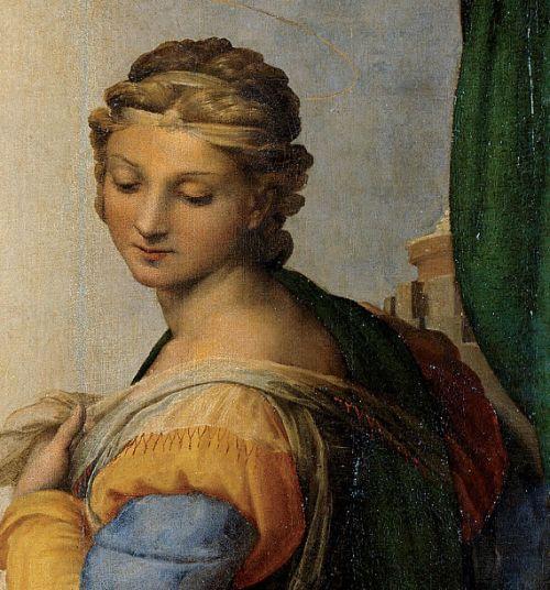 Raffaello Sanzio - Sistine Madonna 1512/13 detail   #TuscanyAgriturismoGiratola