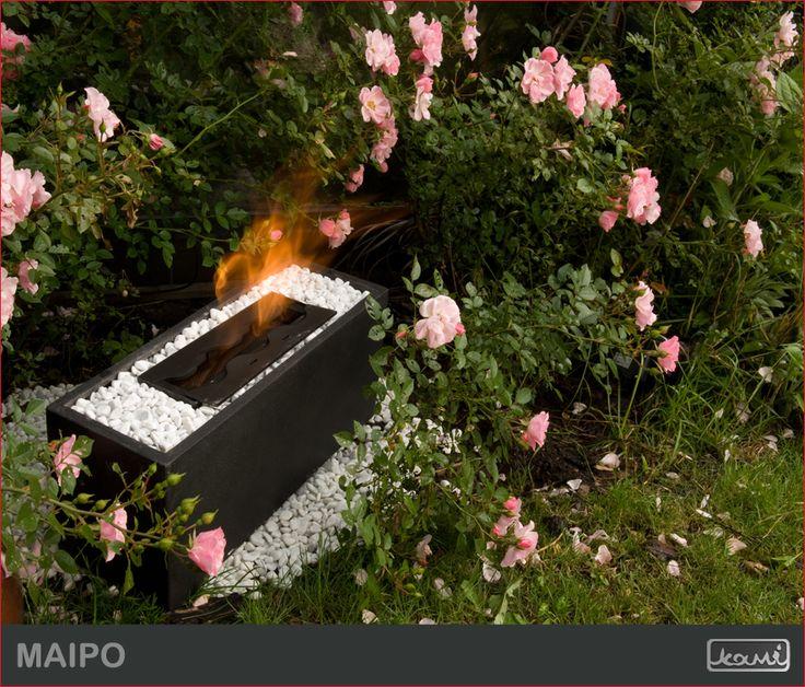 Donica ogrodowa - atrakcyjny biokominek do ogrodu lub na taras. #biokominki #kominki #aranzacje #oswietlenie #dom #ogrod