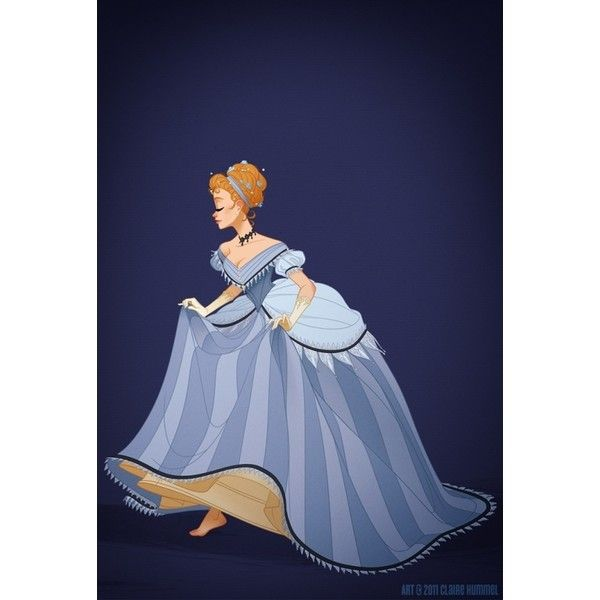 Reinterpreting Disney Princess Costumes Through a Historical Lens... ❤ liked on Polyvore featuring costumes, disney, cinderella, princess, princess halloween costumes, enchanting princess costume, disney costumes and blue costume