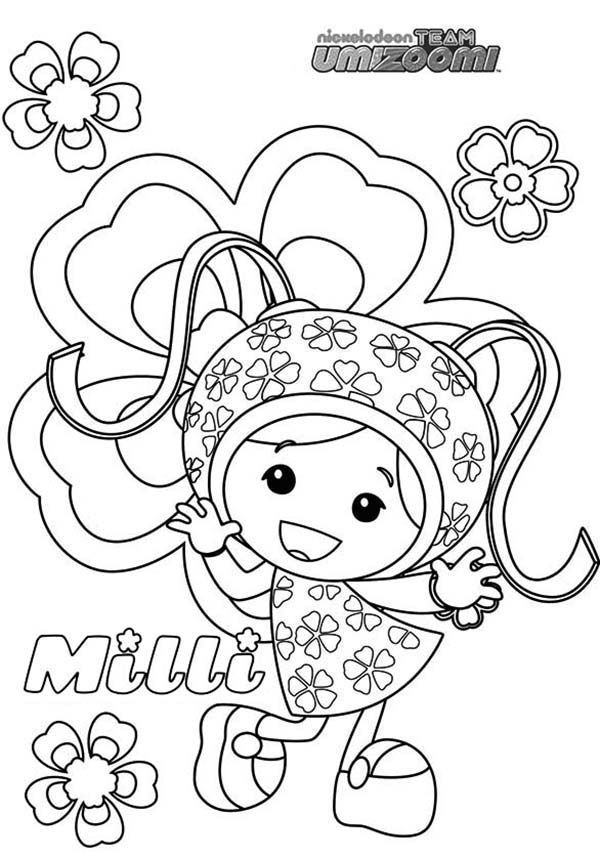 Team Umizoomi Milli From Coloring Page