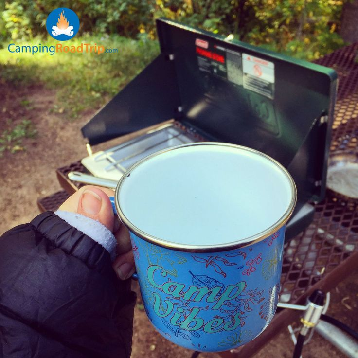 When you're waiting patiently for that hot chocolate to be done! Best part about camping in the fall don't you think? #camping #RVing (Pic by @annbrampton)