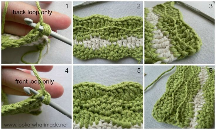 Lazy Waves Tutorial 8 Front and Back Loop Only How to Crochet:  Lazy Waves