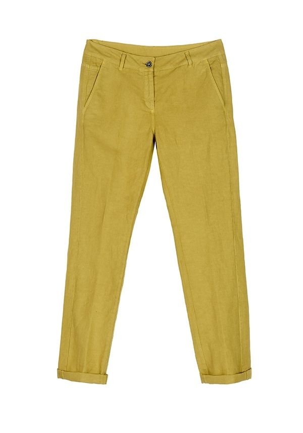 QL2 -  RUTH LINEN/COTTON GARMENT DYED BOYFRIEND STYLE PANT  (A long time is a moment and viceversa) #women's #fashion