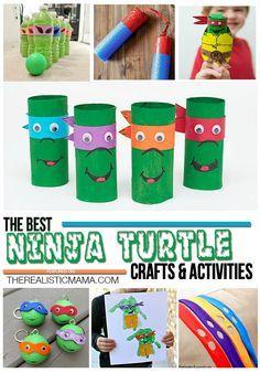20 TMNT CRAFTS & ACTIVITIES - teenage mutant ninja turtles galore!
