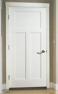 three panel doors interior | panel craftsman the 3 panel craftsman comes in both wood stile rail ...