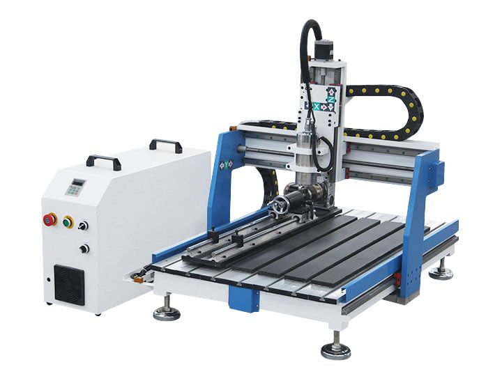 Tabletop CNC Router Machine For Aluminum/Metal with 4th
