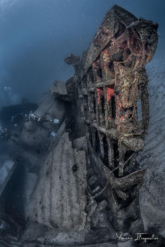"Shipwreck ""Kyra Eleni"" (former OTTA) Underwater photography Yiannis Iliopoulos"