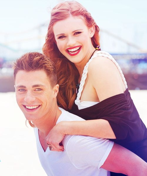 Colton Haynes and Holland Roden aka Jackson Whittemore and Lydia Martin- Teen Wolf