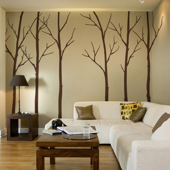 size tree size approx starting left tree x tree x tree x tree x tree 2 winter tree decal simple shapes wall - Simple Shapes Wall Design 2