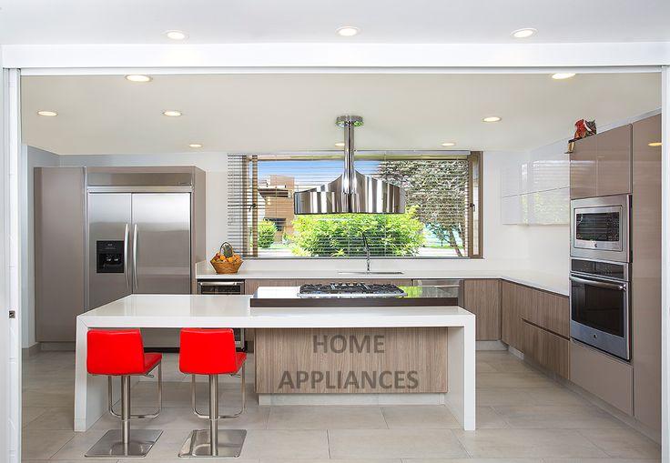 cocinas modernas #cocinas #kitchen #design #isla #Home #homeappliances #electrodomesticos #persianas #Art #shopping