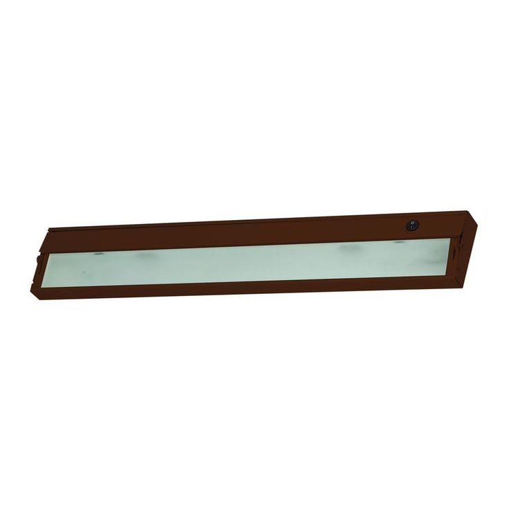 Titan Lighting Zeeline 3-Lamp Xenon Bronze Under Cabinet Light with Diffused Glass