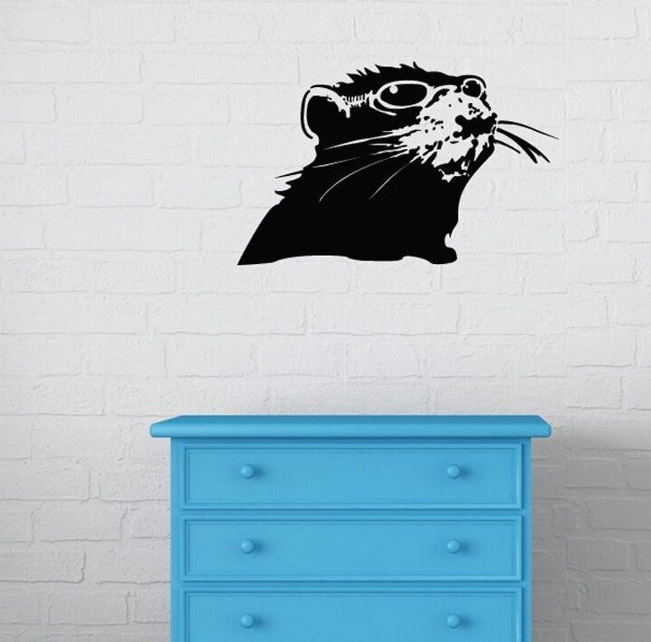 Banksy Rat with Shades Wall Decal