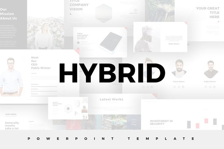 Hybrid Minimal PowerPoint Template by SlidePro on @creativemarket