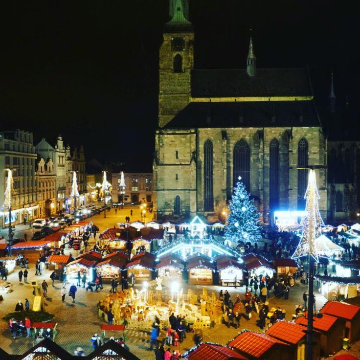 Noční Plzeň, night Pilsen, christmas Pilsen