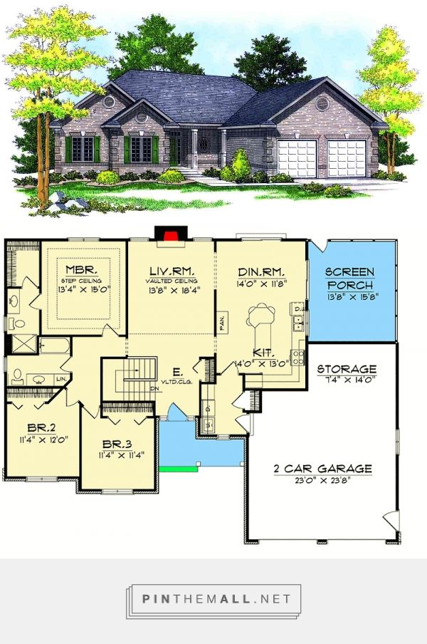 Plan 89131ah Delightful Ranch Home Plan Ranch House Plans House Plans New House Plans