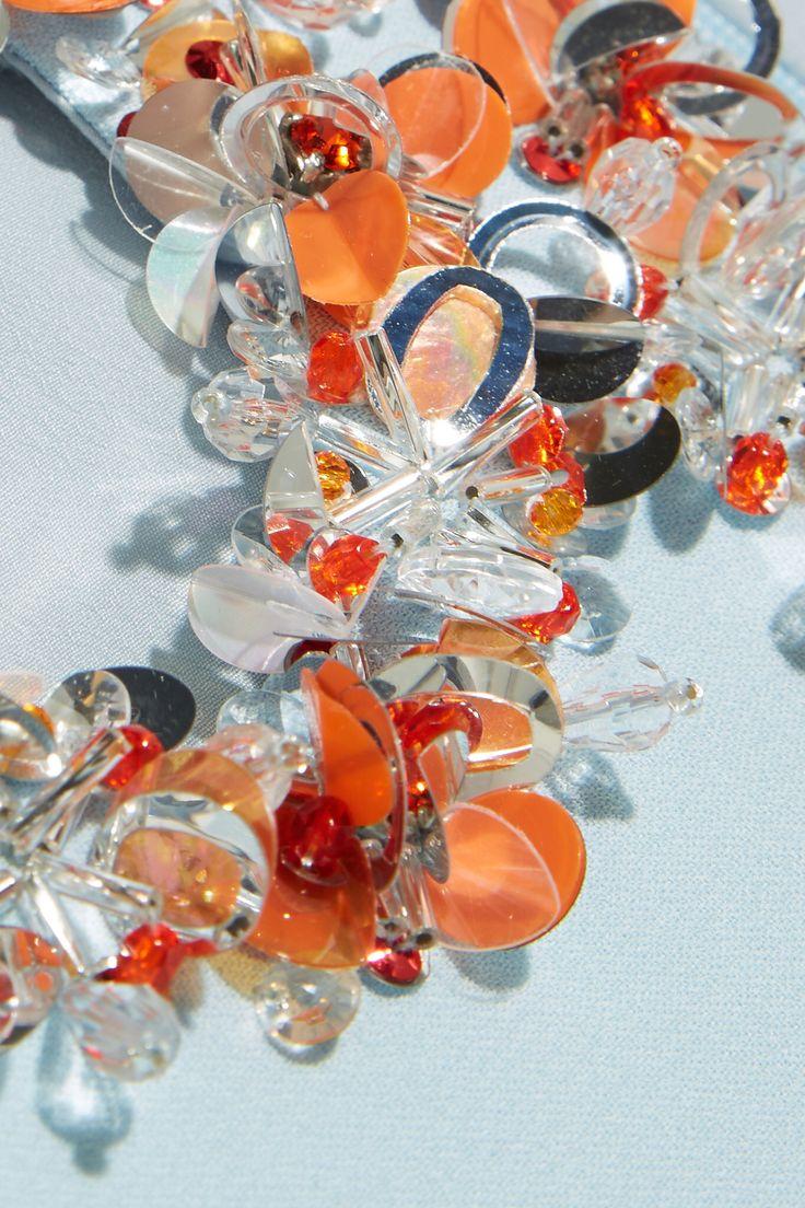 Embellished Miu Miu #MiuMiu #embellished #orange