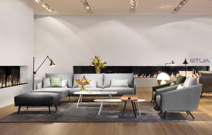 Discover the STUA House proposal in the Salone Milano. This is the area for the new Costura sofa and Solapa tables. SALONE: www.stua.com/design/salone-del-mobile-2016