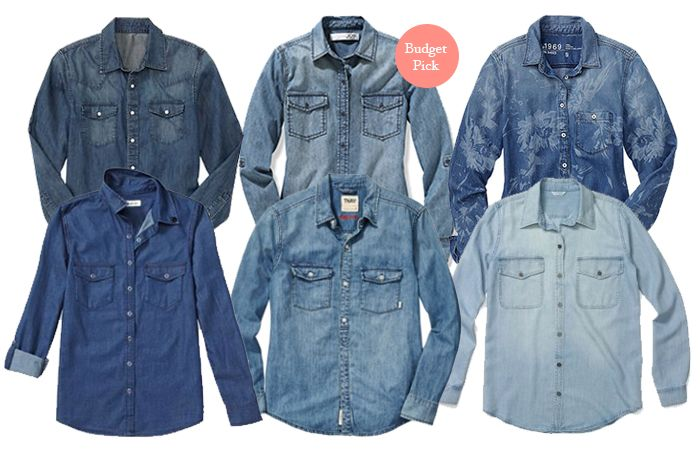 Best Basics: Denim Shirts | Six shirts to love, at every price, plus exclusive tips for how to wear them.