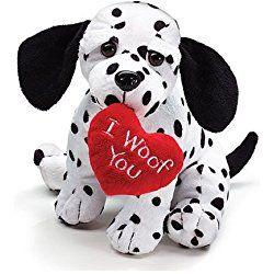"Valentine's Day Plush 8"" Puppy Dalmatian ""I Woof You"""