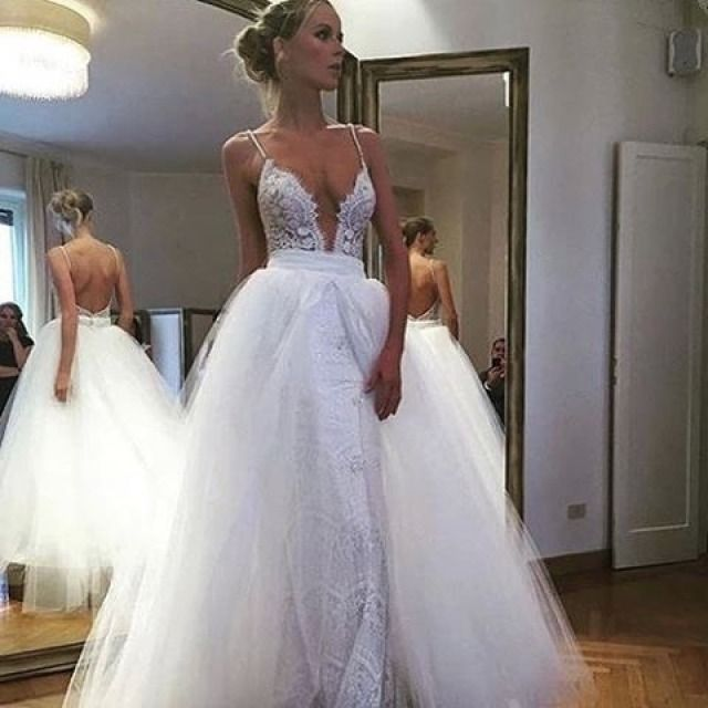 Fluffy Wedding Dresses ❤ See more : http://bugelinlik.com/en/wedding-dresses/fluffy/3