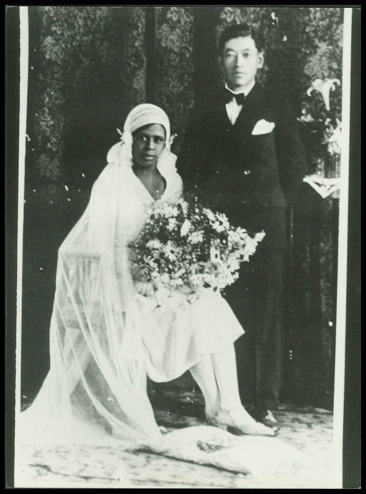 Circa 1920s. Marriages between Chinese men and African American women were common in Texas, in the South and throughout the Caribbean in the late 1800s.