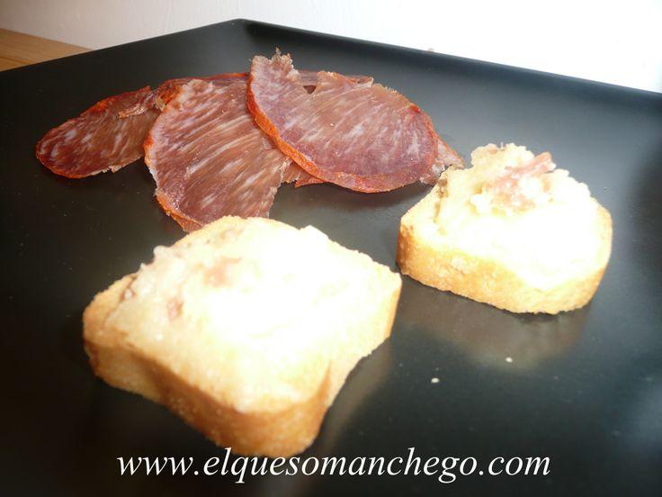 Textura de Queso con lomo #ibérico de bellota, seleccionado directamente desde #Guijuelo.