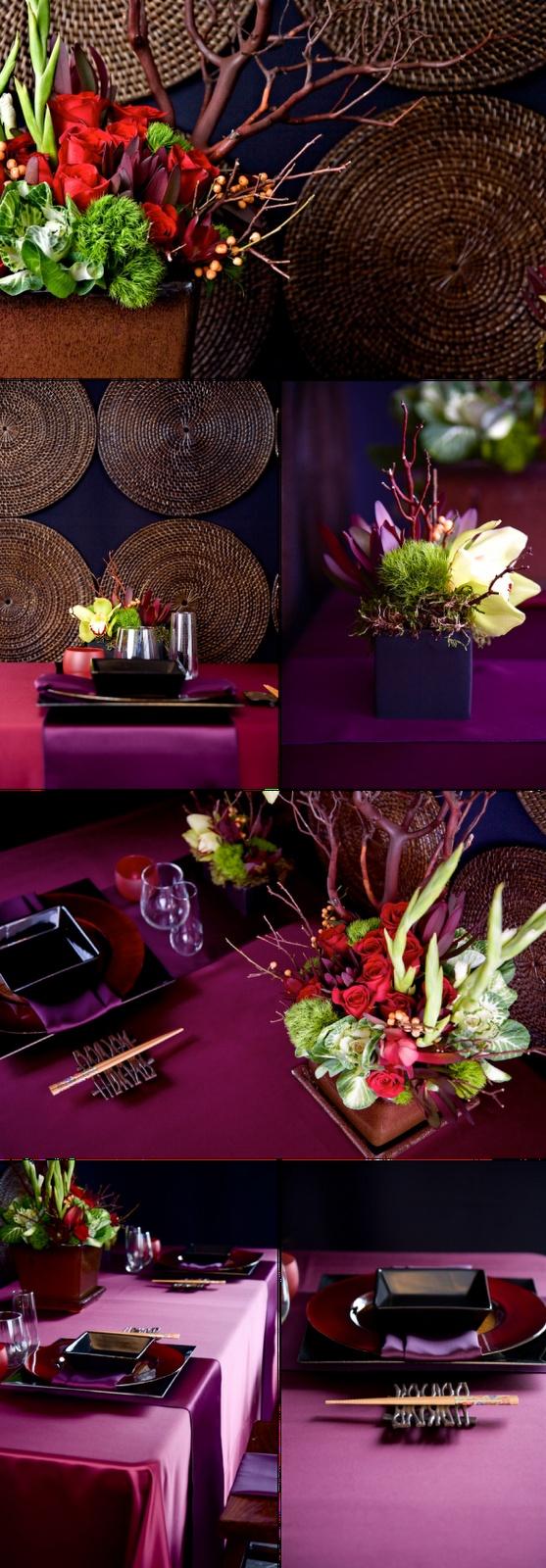 Mood Events Asian Wedding Tablescape Merci New York
