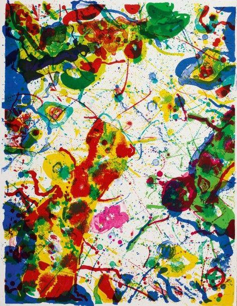 SAM FRANCIS (1923-1994) UNTITLED (SF-297), 1987 (Lembark, L274) Lithographie en couleurs sur BFK Rives Signée et numérotée 2/50