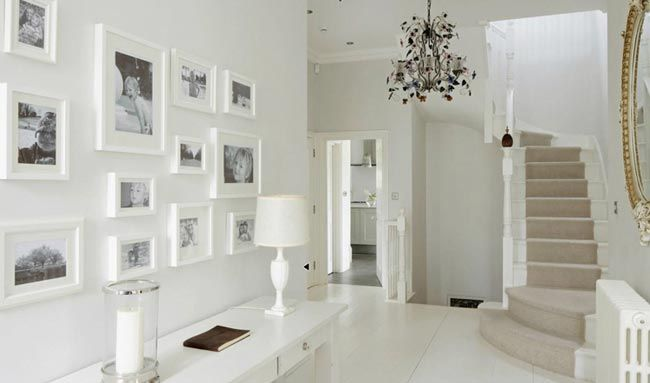 White on white foyer. http://www.kenisahome.com