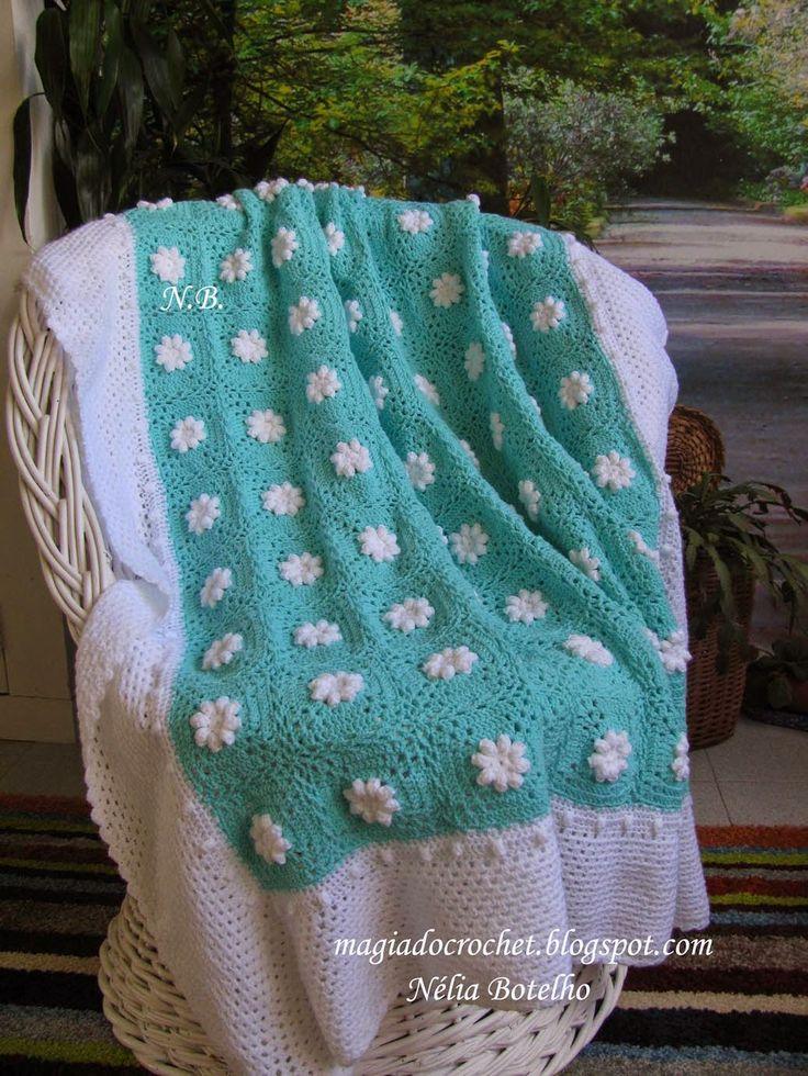 Magia+do+Crochet:+Colcha+em+crochet+para+bebé+e+variações+da+colcha+...