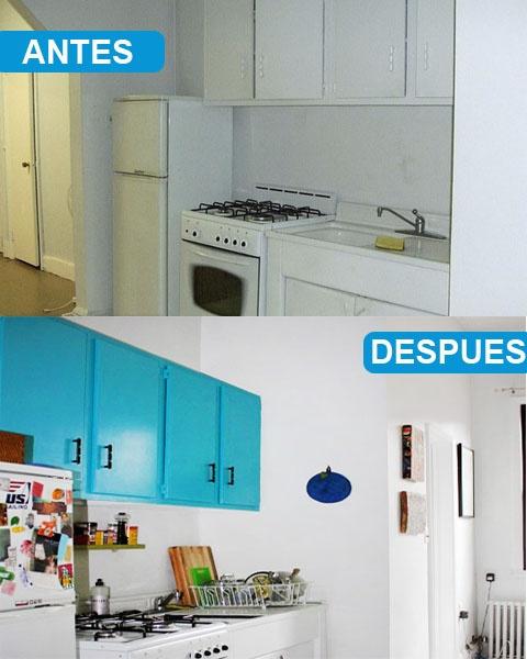 17 mejores ideas sobre armarios de cocina pintados en - Pintura para muebles de cocina ...